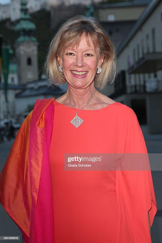 Charlotte von Bismarck Schoenhausen (mother of Stefanie zu Guttenberg) attends the opening of the easter festival 2014 (Osterfestspiele) on April 12, 2014 in Salzburg, Austria.