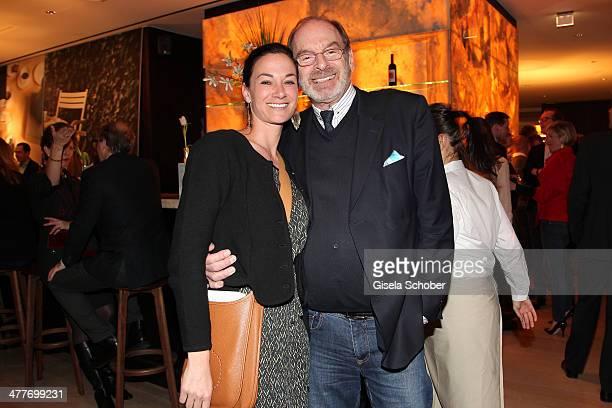 Charlotte von Oeynhausen and Wolfgang Bierlein attend the 'Art Food' cocktail at Ella restaurant at Lenbachhaus on March 10 2014 in Munich Germany