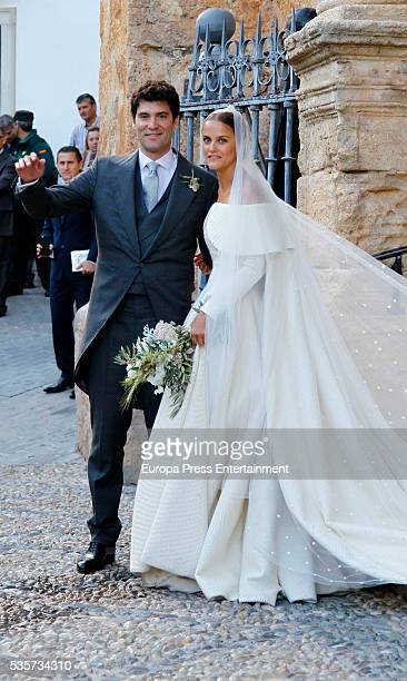 Charlotte Wellesley and Alejandro Santo Domingo attend their wedding on May 28 2016 in Granada Spain