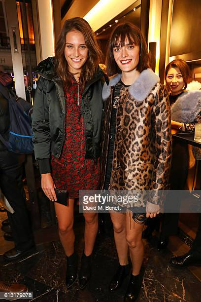 Charlotte Wiggins and Sam Rollinson attend the Moncler RCA 'Freeze For Frieze' cocktail reception at the Moncler Bond Street Boutique on October 7...