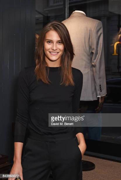 Charlotte Wiggins attends the launch of the 'Kingsman' shop on St James's Street in partnership with MR PORTER MARV Twentieth Century Fox in...