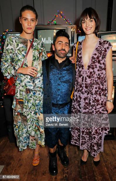 Charlotte Wiggins Johnny Coca Mulberry's Creative Director and Sam Rollinson attend Mulberry's 'It's Not Quite Christmas' party on November 15 2017...