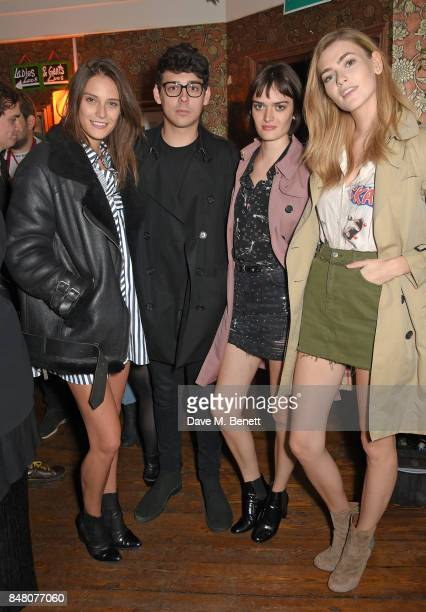 Charlotte Wiggins Matt Richardson Sam Rollinson and guest celebrate Burberrys September collection and the Dazed Burberry cover shot by Angelo...