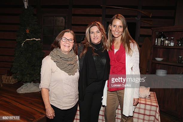 Charlotte Yerke Rachel Lindsay Greenbush and Wendi Turnbaugh attend 'A Little House Christmas' at Sierra Madre Playhouse on December 16 2016 in...