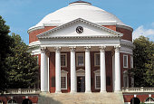USA Charlottesville Façade of the University of Virginia The Rotunda with its hexastyle pronaos and its dome