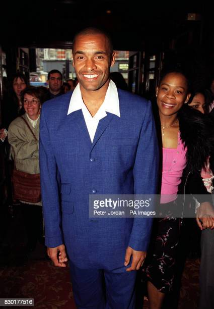 Charlton Athletic footballer Mark Bright arrives for the first night of a recast 'Beauty and the Beast' musical at the Dominion Theatre in Tottenham...