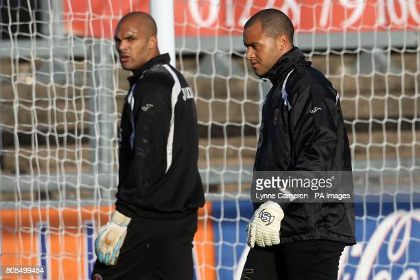 Charlton Athletic goalkeeper's Carl Ikeme and Darren Randolph