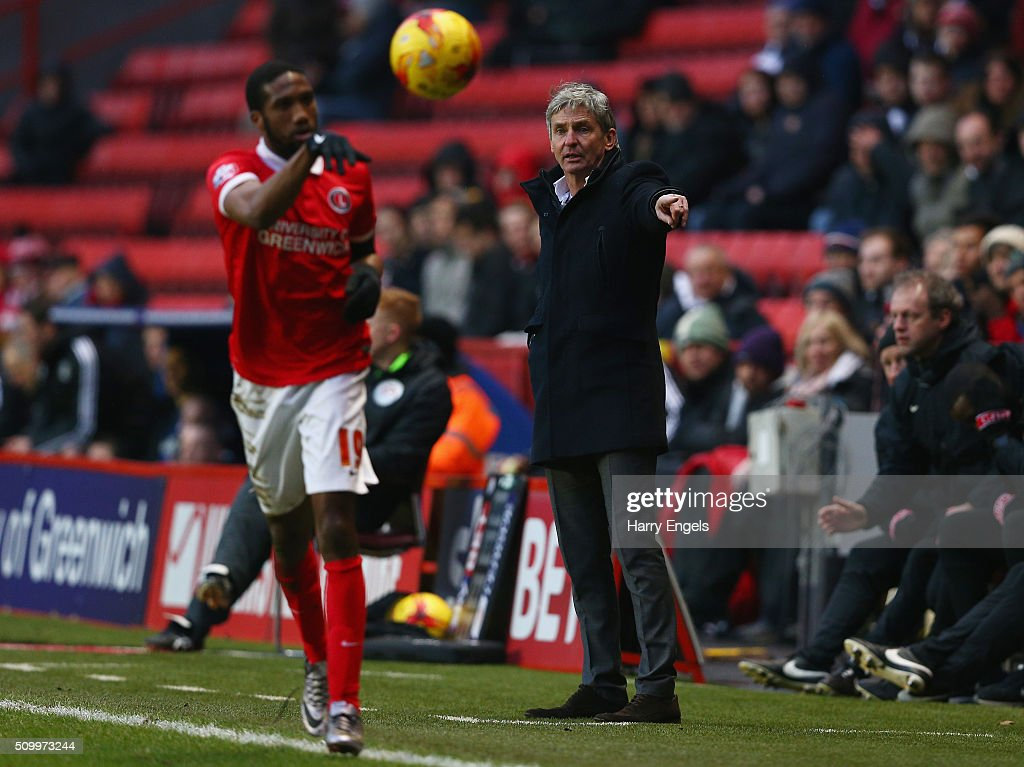 Charlton Athletic head coach Jose Riga gestures on the sidelines during the Sky Bet Championship match between Charlton Athletic and Cardiff City at The Valley on February 13, 2016 in London, United Kingdom.