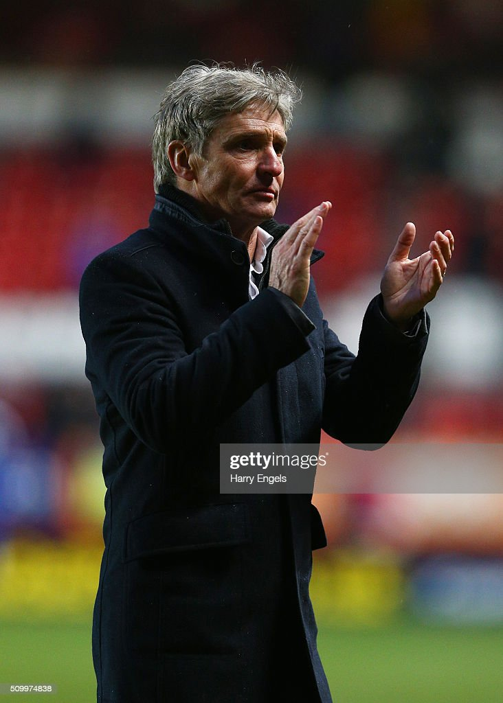 Charlton Athletic head coach Jose Riga walks off the pitch at the end of the Sky Bet Championship match between Charlton Athletic and Cardiff City at The Valley on February 13, 2016 in London, United Kingdom.