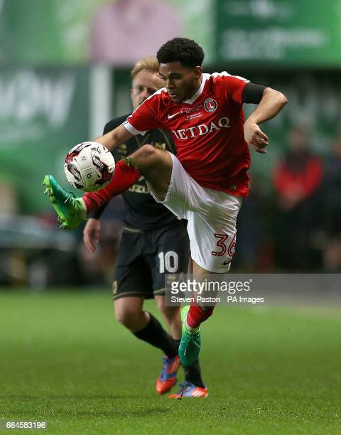 Charlton Athletic Jay Dasilva in action during the Sky Bet League One match at The Valley London