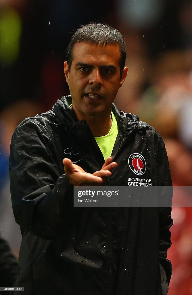Charlton Athletic manager <a gi-track='captionPersonalityLinkClicked' href=/galleries/search?phrase=Guy+Luzon&family=editorial&specificpeople=4595259 ng-click='$event.stopPropagation()'>Guy Luzon</a> during the Capital One Cup First Round match between Charlton Athletic v Dagenham & Redbridge at The Valley on August 11, 2015 in London, England.