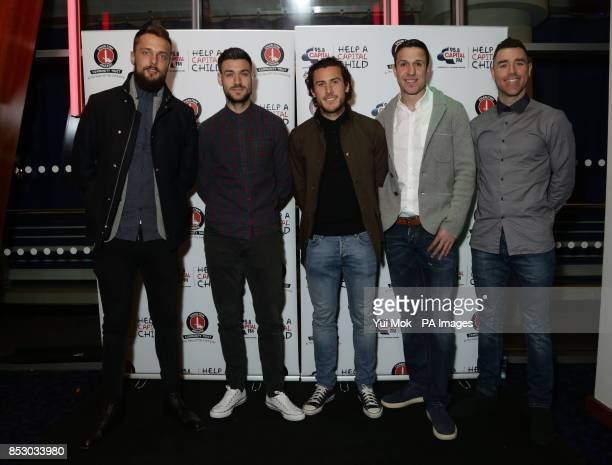 Charlton Athletic players Ben Hamer Johnnie Jackson Lawrie Wilson Richard Wood and Andy Hughes attendingthe Charlton Athletic Community Trust Concert...