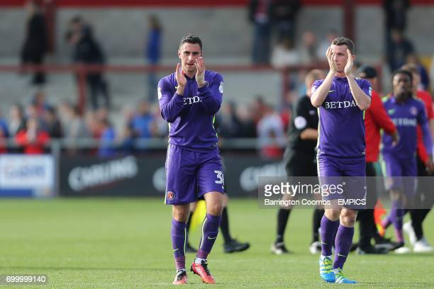 Charlton Athletic's 2nd goal scorer Lee Novak celebrates at the end of the game