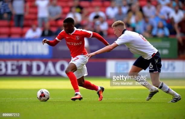Charlton Athletic's Ademola Lookman gets away from Bolton Wanderers' Josh Vela