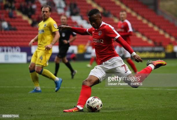 Charlton Athletic's Ademola Lookman has a shot at goal