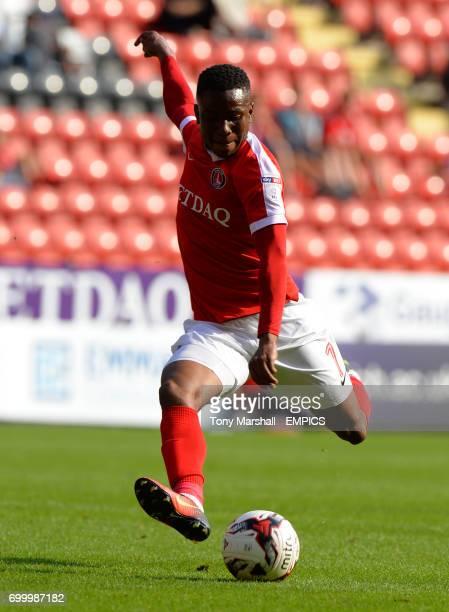 Charlton Athletic's Ademola Lookman takes a shot at goal