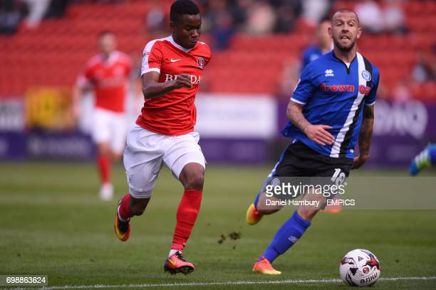Charlton Athletic's Ademola Lookman takes on Rochdale's Keith Keane