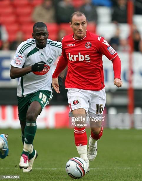 Charlton Athletic's Alan McCormack gets away from Yannick Bolasie of Plymouth Argyle during the npower Football League One match at The Valley London