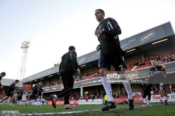 Charlton Athletic's Andy Hughes during prematch training