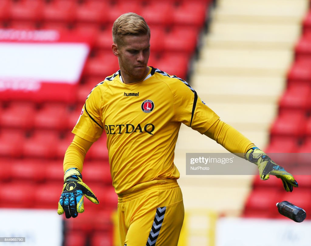 Charlton Athletic's Ben Amos during Sky Bet League One match between Charlton Athletic against Southend United at The Valley Stadium London on 09 Sept 2017