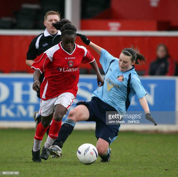 Charlton Athletic's Enola Aluko and Sunderland's Steph Bannon