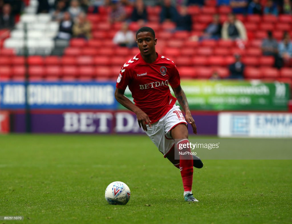 Charlton Athletic's Ezri Konsa during Sky Bet League One match between Charlton Athletic against Bury at The Valley Stadium London on 23 Sept 2017