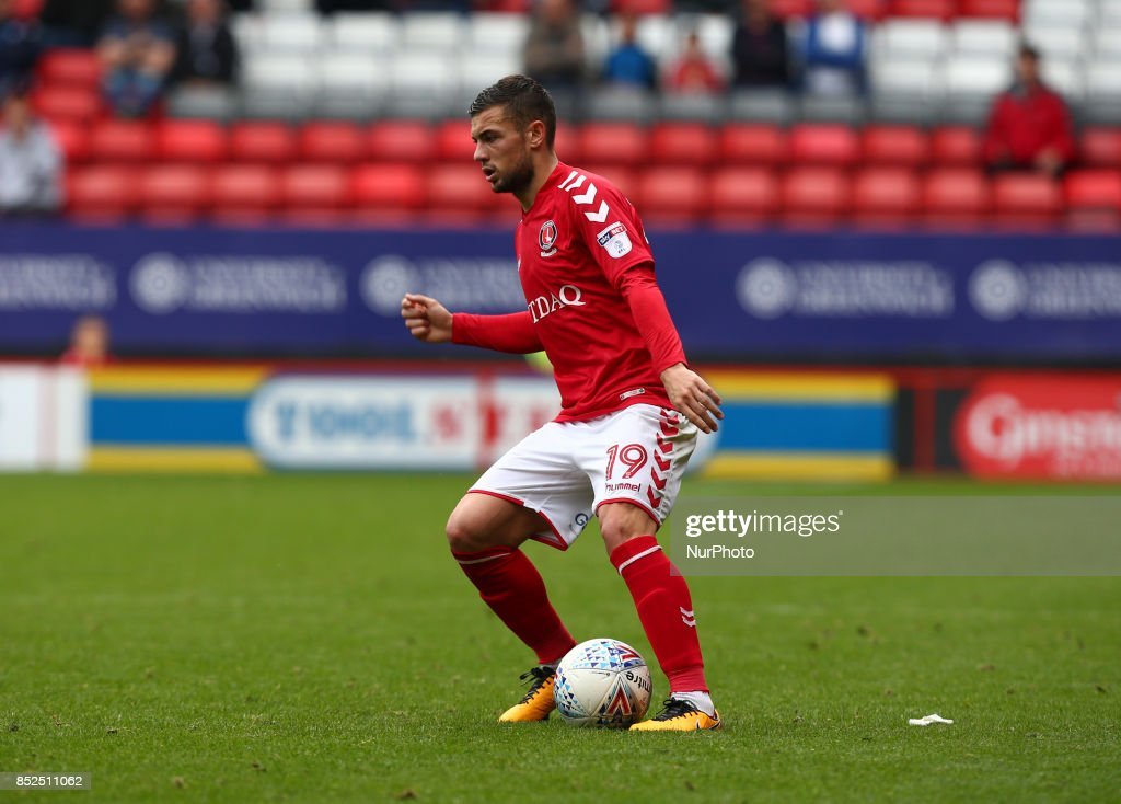 Charlton Athletic's Jake Forster-Caskey during Sky Bet League One match between Charlton Athletic against Bury at The Valley Stadium London on 23 Sept 2017