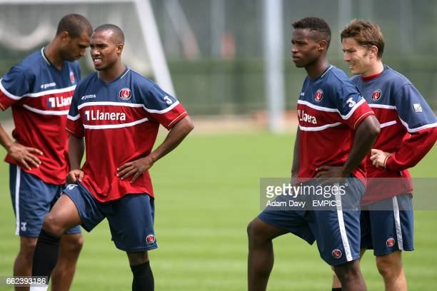 Charlton Athletic's Jonathan Fortune Yassin Moutaouakil Jose Semedo and Matt Holland