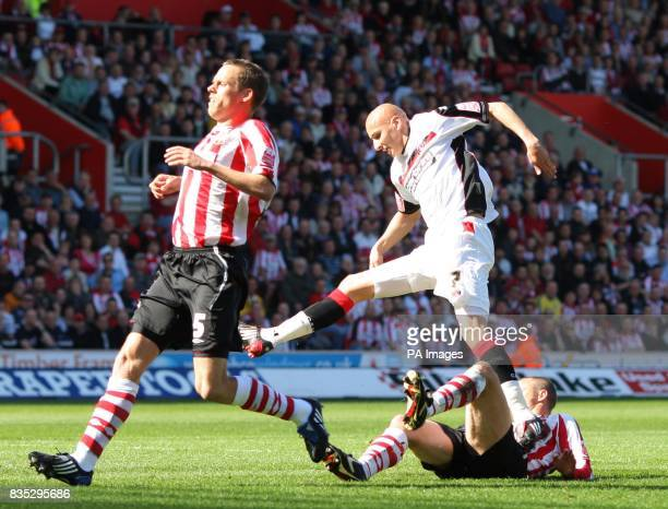 Charlton Athletic's Jonjo Shelvey scores during the CocaCola Championship match at St Mary's Stadium Southampton