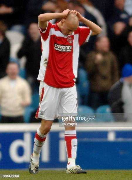 Charlton Athletic's Jonjo Shelvey stands dejected during the CocaCola Football Championship match at Hillsborough Sheffield