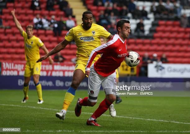 Charlton Athletic's Lee Novak in action