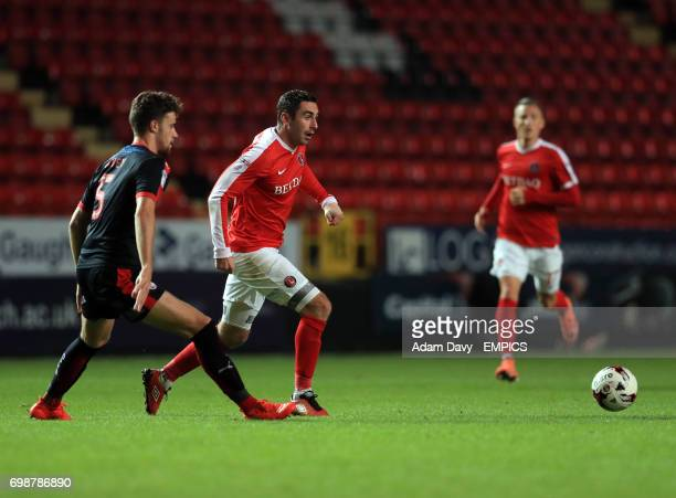 Charlton Athletic's Lee Novak takes on Crawley Town's Alex Davey