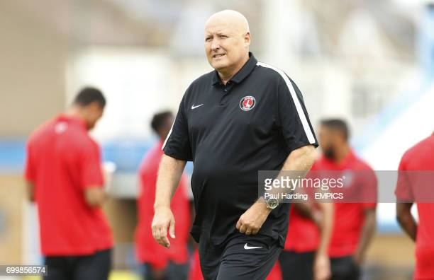 Charlton Athletic's manager Russell Slade before the game