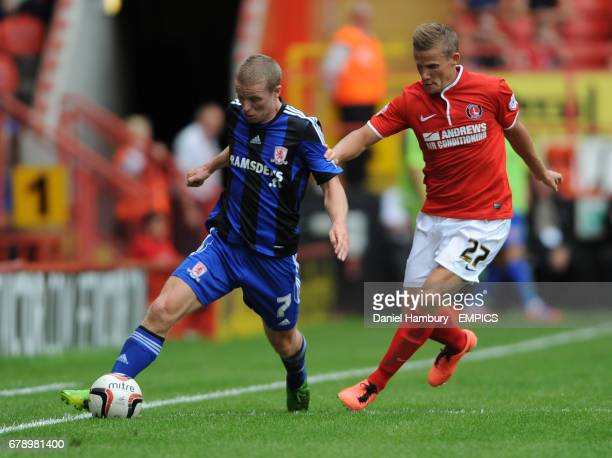 Charlton Athletic's Mark Gower and Middlesborough's Grant Leadbitter