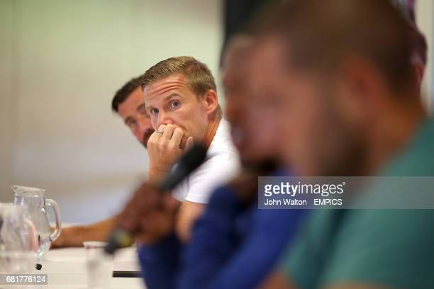 Charlton Athletic's Mark Gower listens during a fans forum