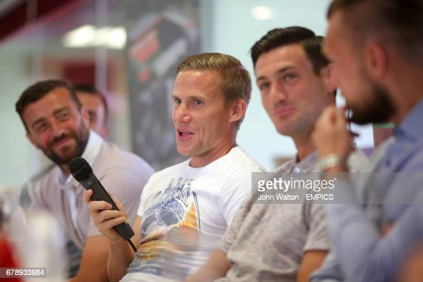 Charlton Athletic's Mark Gower speaks during a fans forum