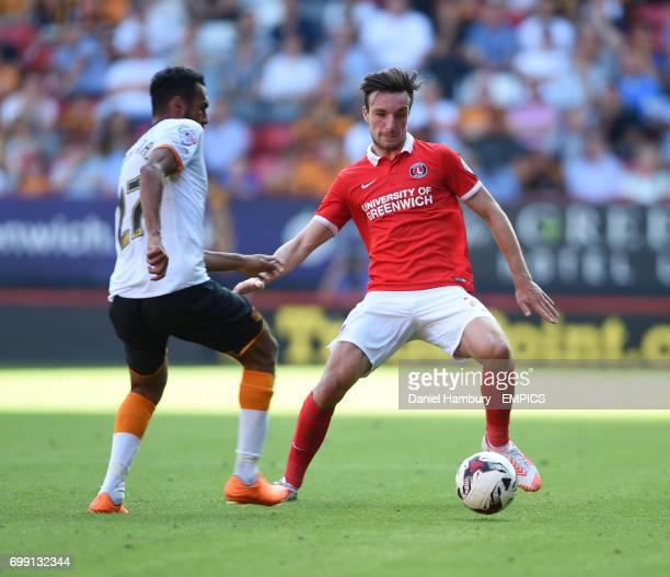 Charlton Athletic's Morgan Fox and Hull City's Ahmed Elmohamady