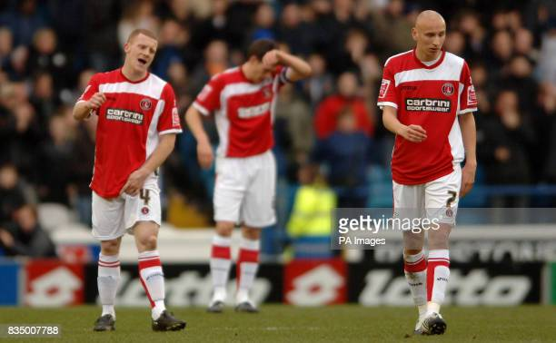 Charlton Athletic's Nicky Bailey and Jonjo Shelvey stand dejected during the CocaCola Football Championship match at Hillsborough Sheffield
