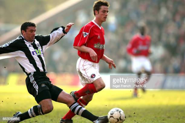 Charlton Athletic's Scott Parker is tackled by Newcastle United's Gary Speed