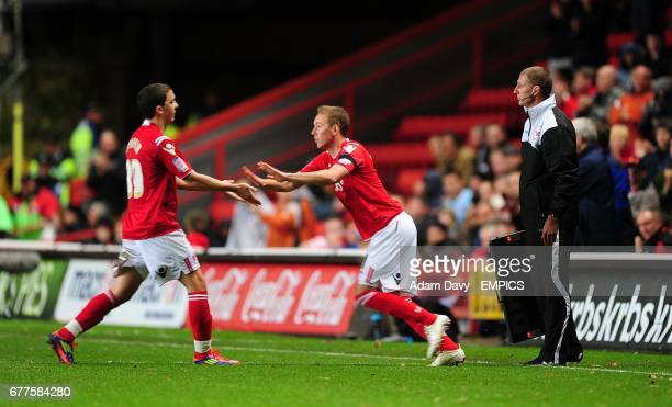 Charlton Athletic's Scott Wagstaff is substituted on in place of Hogan Ephraim