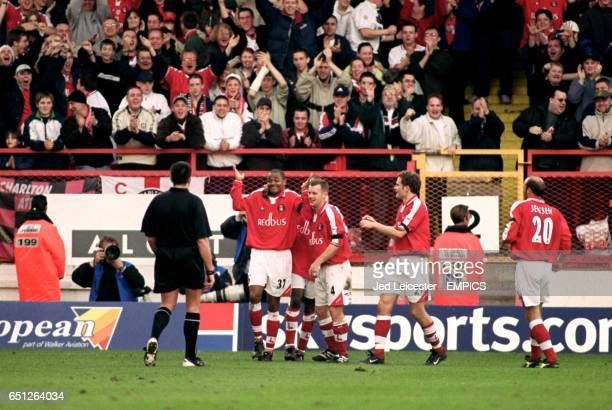 Charlton Athletic's Shaun Bartlett shrugs his shoulders after scoring a wonder goal to put the game beyond doubt