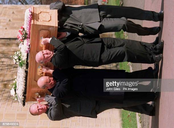Charlton brothers united in grief Jackie Bobby and Gordon carry the coffin of their mother Cissie at her funeral in Ashington