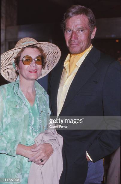 Charlton Heston and his wife Lydia in Madrid Madrid Spain
