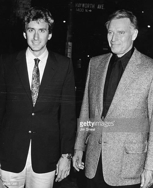 Charlton Heston and son Fraser Heston