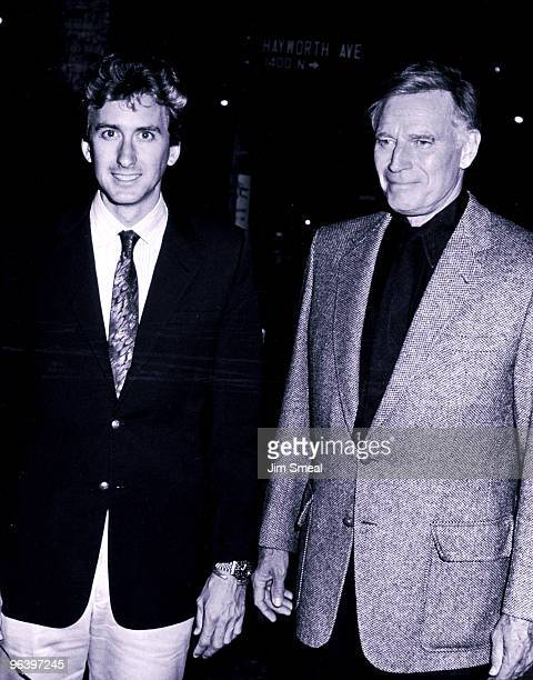 Charlton Heston and son