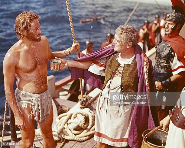 Charlton Heston as Judah BenHur and Jack Hawkins as Quintus Arrius in 'BenHur' directed by William Wyler 1959