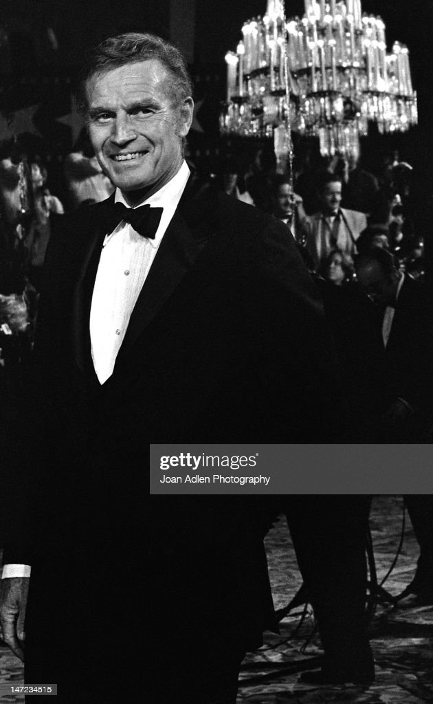 Charlton Heston at American Film Institute Awards Show on April 10 1981 at the Beverly Hills Hotel in Beverly Hills California