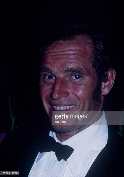 Charlton Heston in a tux closeup circa 1970 New York