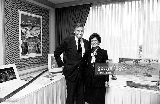 Charlton Heston Wife Lydia during Charlton Heston Donates His Professional Archives To UCLA Theater Arts Library at Westwood Marquis Hotel in Los...