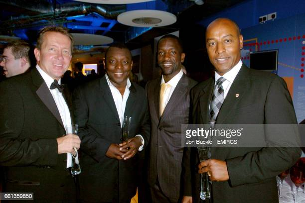 Charlton manager Alan Curbishley with Garth Crooks and Chris Powell and Brendon Batson